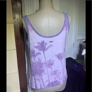 Salt life tank top purple palm trees size sp
